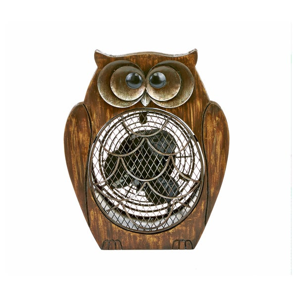 Owl Wood Figurine Fan