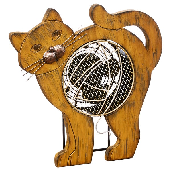 Cat Wood Figurine Fan