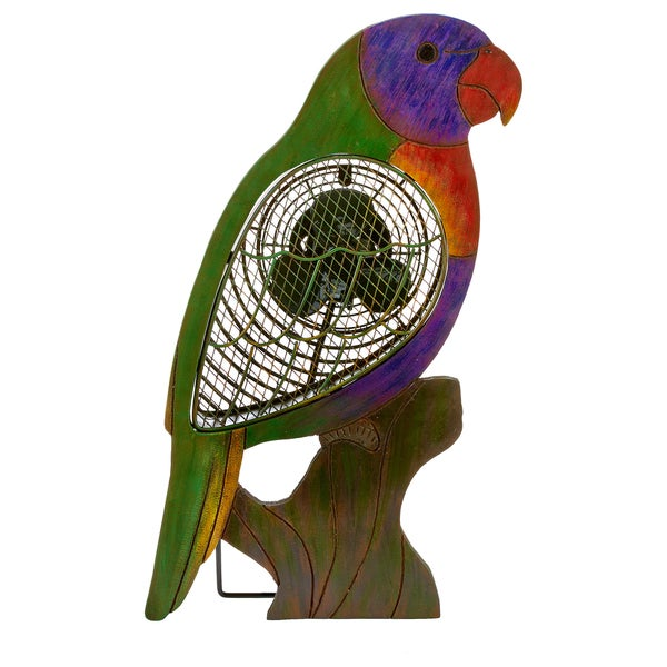 Lorikeet Wood Figurine Fan