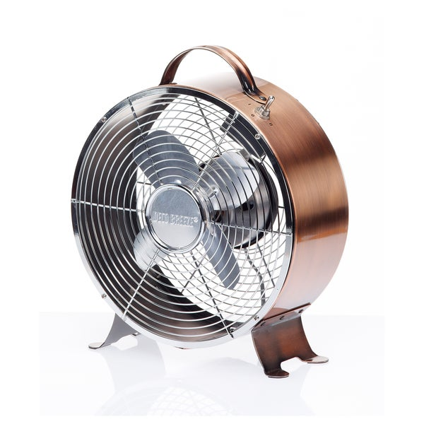 Retro Copper Metal Fan
