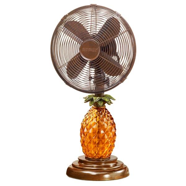Glass Pineapple Table Fan