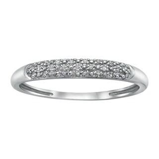 Beverly Hills Charm 10k White Gold White Diamond Accent Band Ring (H-I, I2-I3)