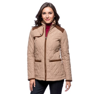 Tommy Hilfiger Women's Khaki Zip-front Quilted Jacket