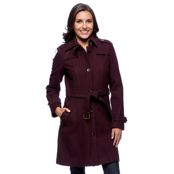 Tommy Hilfiger Women's Belted Military-style Coat