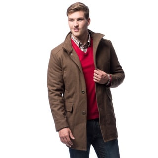 Kenneth Cole Men's Latte Colored MN Heme Car Coat