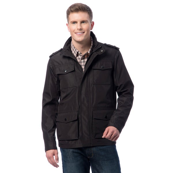Kenneth Cole Men's 4-pocket Bonded Polyester Jacket