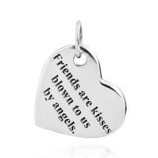 'Friends Are Kisses Blown to Us By Angels' .925 Silver Pendant (Thailand)