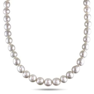 Miadora Signature Collection 14k Yellow Gold South Sea Pearl Necklace (8.5-10 mm)
