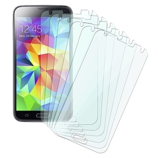 BasAcc Clear LCD Screen Protector Film Guard for Samsung Galaxy S5 SV (Pack of 6)