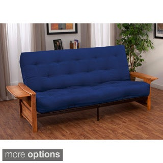 Bellevue with Retractable Tables Transitional-style Queen-size Futon Sofa Sleeper Bed