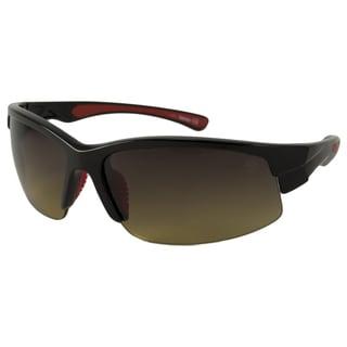 Timberland Men's TB9048 Polarized/ Wrap Sunglasses