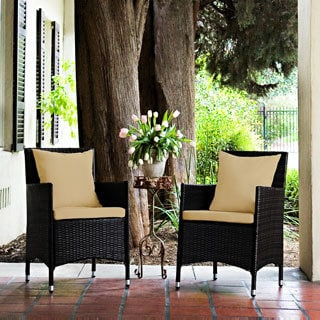 angelo:HOME Napa Estate Sandy Brown Indoor/Outdoor Dining Chair Set (Set of 2)