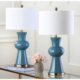 Safavieh Indoor 1-light Blue Lola Column Lamp (Set of 2)