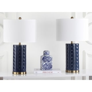 Safavieh Indoor 1-light Navy Roxanne Table Lamp (Set of 2)