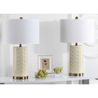 Safavieh Indoor 1-light Creme Roxanne Table Lamp (Set of 2)