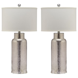Safavieh Lighting 29-inch Bronze Bottle Glass Table Lamp (Set of 2)