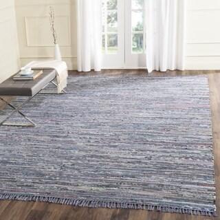 Safavieh Hand-woven Rag Rug Purple Cotton Rug (6' Square)