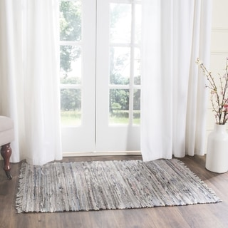 Safavieh Hand-woven Rag Rug Grey Cotton Rug (2' x 3')