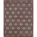Isaac Mizrahi by Safavieh English Trellis Navy/ Rust Wool Rug (4' x 6')