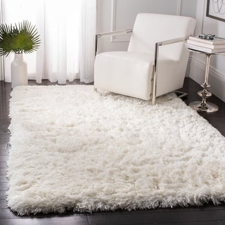 Safavieh Handmade Artic Shag Guenevere Solid Polyester Rug