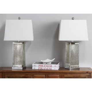 Safavieh Lighting 27-inches Clear Rock Crystal Table Lamp (Set of 2)