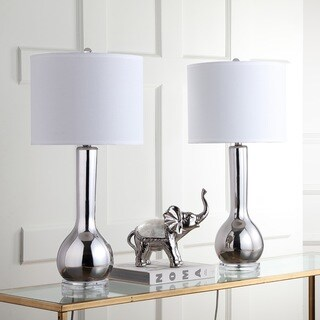Safavieh Indoor 1-light Silver Mae Long Neck Ceramic Table Lamp (Set of 2)