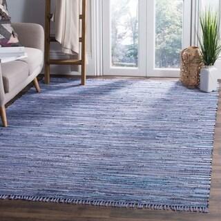 Safavieh Hand-woven Rag Rug Purple Cotton Rug (5' x 8')