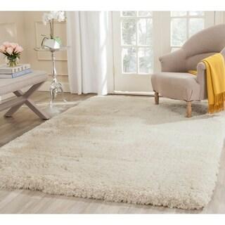 Safavieh Handmade Shag Beige Polyester Rug (8'6 x 12')