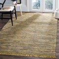 Safavieh Hand-woven Rag Rug Yellow Cotton Rug (6' x 9')