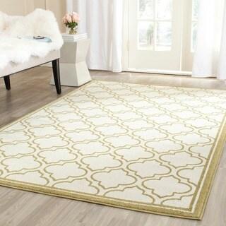 Safavieh Amherst Indoor/ Outdoor Ivory/ Light Green Rug (7' Square)