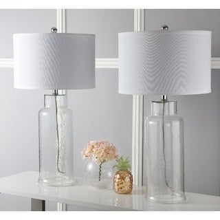 Safavieh Indoor 1-light Clear Bottle Glass Table Lamp (Set of 2)