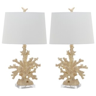 Safavieh Indoor 1-light Cream Coral Branch Table Lamp (Set of 2)
