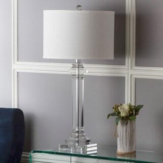 Safavieh Lighting 30-inch Crystal Nina Crystal Column Lamp