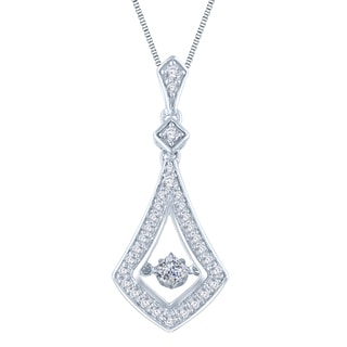 Auriya 14k White Gold 1/2ct TDW Dancing Princess-cut Diamond Pendant Necklace (H-I, I1-I2)
