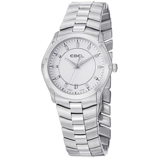 Ebel Women's 9954Q31/03450 'Classic Sport' White Dial Stainless Steel Quartz Watch