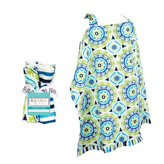 Trend Lab 5-piece Nursing Cover and Burp Cloth Set in Blue