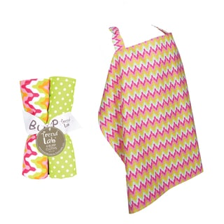 Trend Lab 5-piece Nursing Cover and Burp Cloth Set in Savannah
