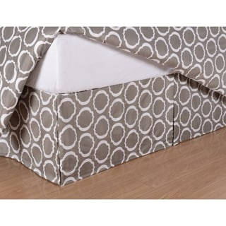 Simple Elegance Scroll Park Wrinkle-resistant 600 Thread Count Bed Skirt