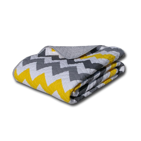 Greenland Home Fashions Vida Multicolor Reversible Quilted Cotton Throw Blanket