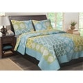Avalon Contemporary Quatrefoil 3-Piece Quilt Set