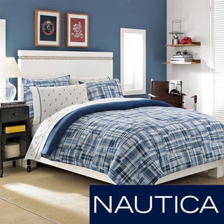 Nautica Newcastle Navy Reversible 3-piece Cotton Comforter Set