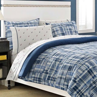 Nautica Newcastle Navy Cotton 3-piece Duvet Cover Set