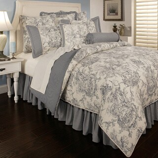 Sherry Kline Country Toile Blue 6-piece Luxury Comforter Set