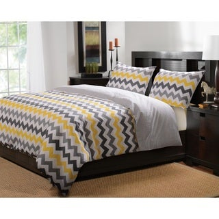 Vida Button Closure Cotton Duvet Cover Set