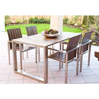 ABBYSON LIVING Alexandria Titanium Stainless-Steel 5-piece Patio Dining Set