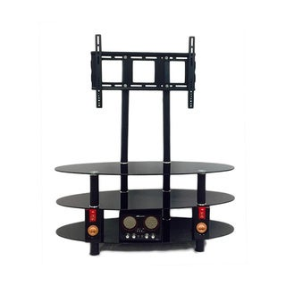 Tempered Black Glass TV Stand and Mount