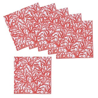 Sea Breeze Coral Napkins (Set of 6)