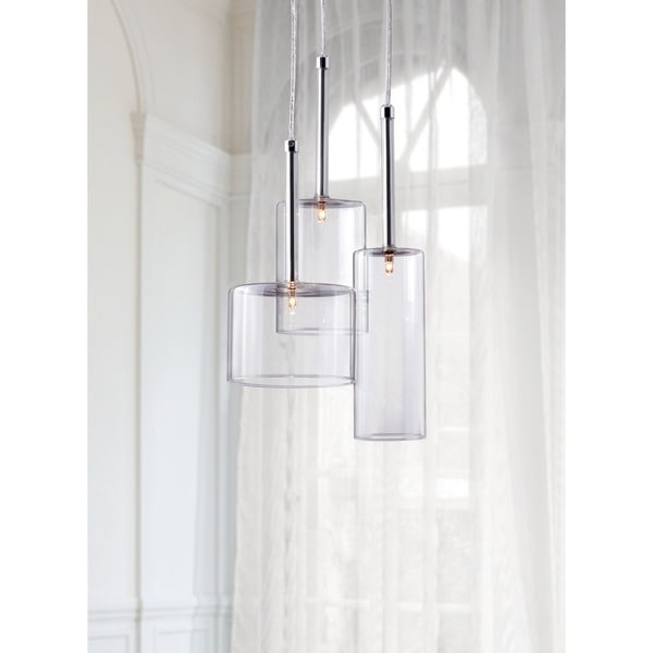 Lightning 3-light Clear Ceiling Lamp