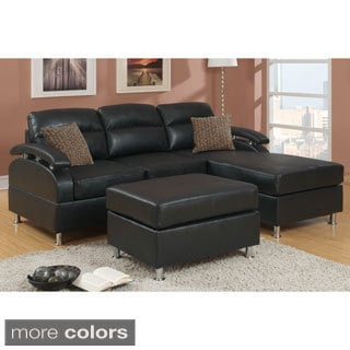 Veria 3-Piece Sectional Sofa with Ottoman