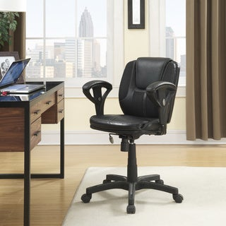 Serta Black Puresoft Faux Leather and Mesh Task Office Chair